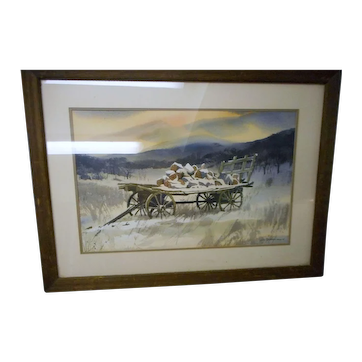 Michael Barkman listed artist amrtican water color society pennsylvainia framedrural scene