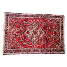 Circa 1940 oriental rug hamadan 24 x 35 inches quite heavy