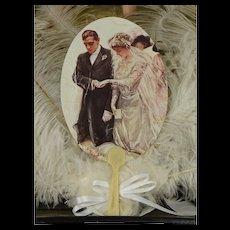 Beautiful Oval Victorian Wedding Fan