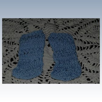 Artist Made Blue Knit Bebe Stockings