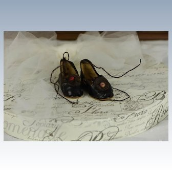 Nice Pair of Antique Oilcloth Shoes
