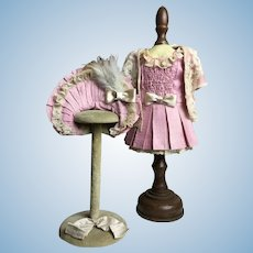 """Marvelous 3-Piece Rose Silk Outfit From Paris Perfect for Your 14"""" Bebe"""