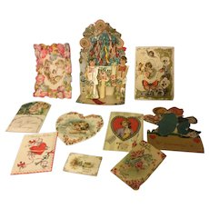 Antique Victorian Valentines for Doll Display