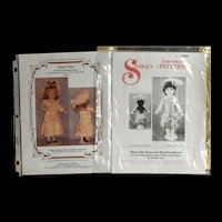 """Lot of 5 Doll Dress Patterns for Dolls 10"""", 12"""", 13"""""""