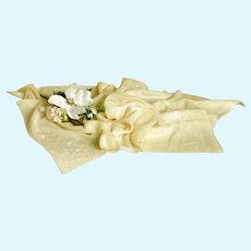 Light Yellow Panne Velvet Fabric for Doll Costuming/Projects