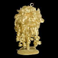 Thick and Curly Acrylic Size 12-13 Pale Blonde Doll Wig