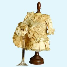 "~~Gorgeous!!~~Paris Atelier Made, ""Empress-Style"" Dress, Bonnet, Slip/Bustle Ensemble for 19"" Doll"