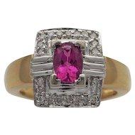 Lady's Tourmaline and Diamond Ring