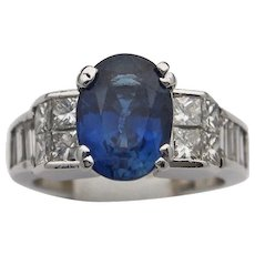 Charming Lady's Sapphire and Diamond Ring