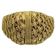 Beautiful Vintage 18k Yellow Gold Filigree Ring Size 7