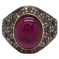 Delightful Lady's Ruby and Diamond Ring