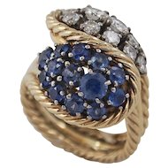 Lady's Sapphire and Diamond Ring