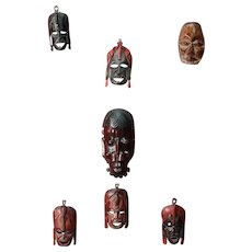 African wooden painted and carved masks from 20th century