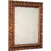 Italian Golden Wooden Mirror From 20th Century