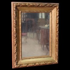 20th century Italian mirror carved and gilded wood