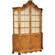 19th Century Dutch Antiques Display Cabinet In Walnut