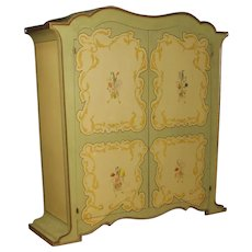 20th Century Italian Wardrobe In Painted Wood In Art Nouveau Style