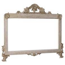 20th Century Italian Mirror in Carved And Painted Wood