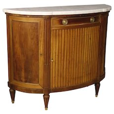 20th Century French Sideboard In Mahogany With Marble Top In Louis XVI Style