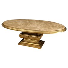 20th Century Italian Golden Coffee Table