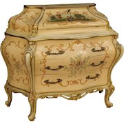 20th Century Venetian Lacquered And Gilded Bureau