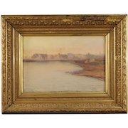 19th Century Scandinavian Seascape Painting Oil On Canvas