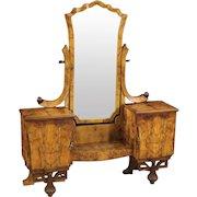 20th Century Italian Cheval Mirror In Art Deco Style