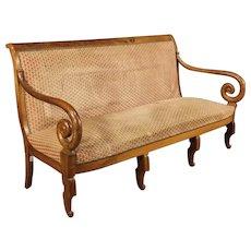 19th Century French Sofa In Walnut