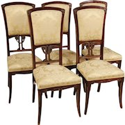 20th Century Spanish Chairs In Mahogany