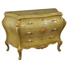 20th Century Venetian Dresser In Lacquered And Painted Wood