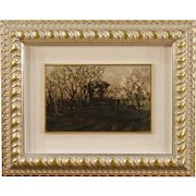 20th Century Italian Signed Landscape Painting Oil On Panel