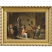 19th Century Dutch Interior Scene Painting