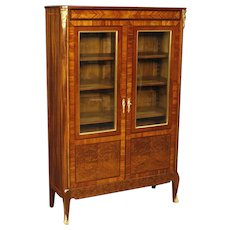 20th Century French Inlaid Display Cabinet