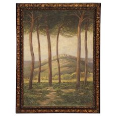 20th Century Spanish Landscape Painting Signed And Dated 1920