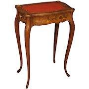 20th Century French Inlaid Side Table With 2 Drawers