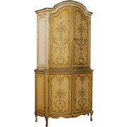 20th Century Italian Lacquered And Gilt Sideboard In Wood With 4 Doors