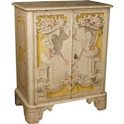 20th Century Italian Lacquered And Painted Sideboard