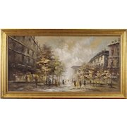 20th Century French Painting Paris View