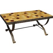 20th Century French Design Signed Coffee Table