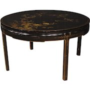 20th Century French Living Room Center Table In Lacquered And Painted Chinoiserie Wood