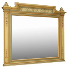 20th Century Italian Mirror In Painted Wood In Louis XVI Style