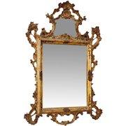 20th Century Venetian Gilt Mirror In Wood
