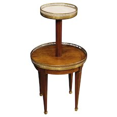 20th Century French Étagère In Carved Wood With Marble Top