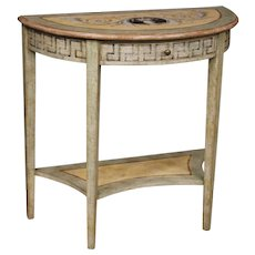 20th Century Italian Console Table In Lacquered And Painted Wood In Louis XVI Style