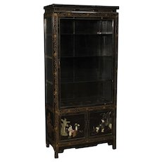 20th Century French Display Cabinet In Lacquered Chinoiserie Wood