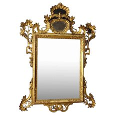 20th Century Venetian Mirror In Gilded And Carved Wood