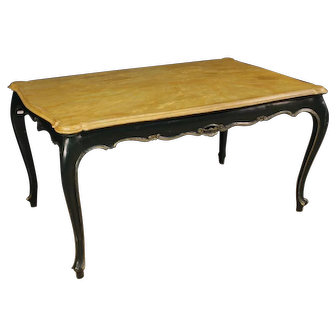 20th Century Venetian Dining Table In Lacquered Wood