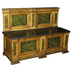 20th Century Italian Chest In Lacquered Faux Marble Wood