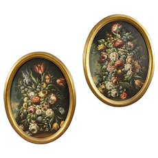 20th Century Pair Of Signed Dutch Still Life Paintings With Gilded Frame