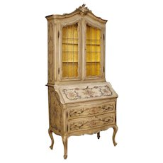 20th Century French Trumeau In Lacquered And Painted Wood